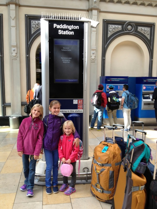 In Paddington Station, ready to catch the train to Somerset