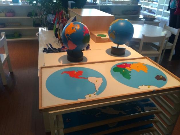 Familiar Montessori materials