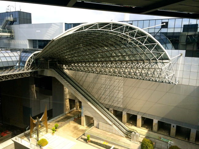 Sleek, well-designed buildings, like this train station, abound in Kyoto