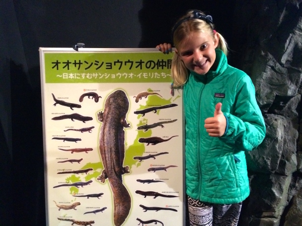 Zoe really liked the giant salamanders
