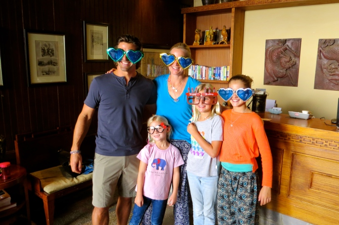 Silly glasses for everyone… getting the party started!