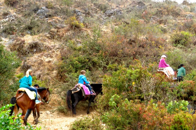 Heading up into the hills, rocky and steep terrain