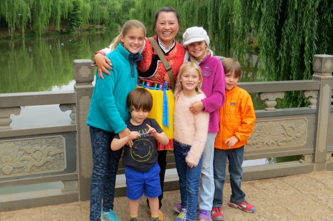 Our Naxi guide, Anna, with all the kids