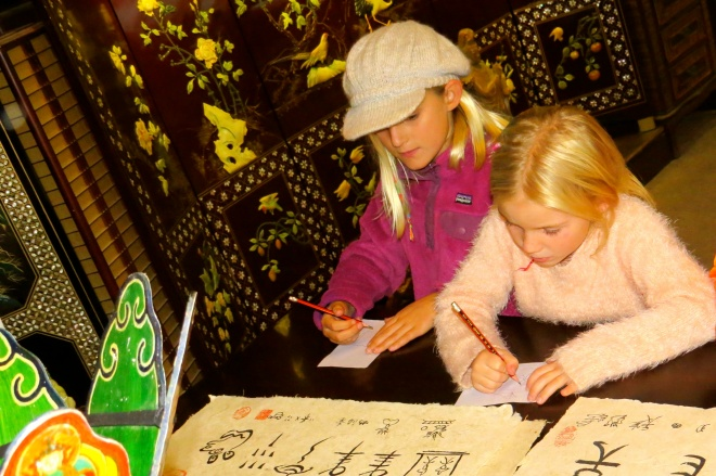 All the kids enjoyed drawing the hieroglyphs
