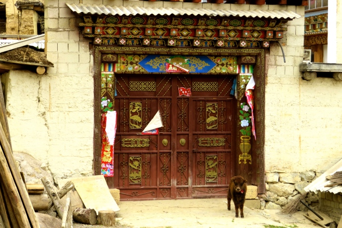 Front gate of a Tibetan home