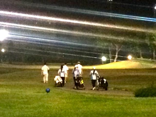 Golf under the lights