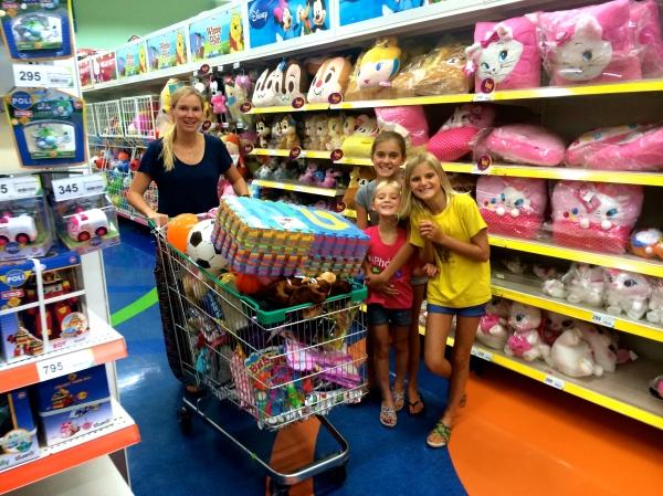 Fun at the shopping center!