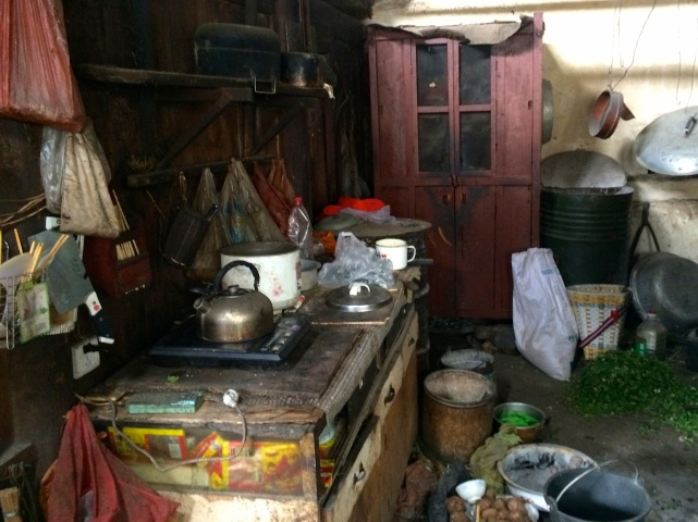 Inside the farmer's kitchen