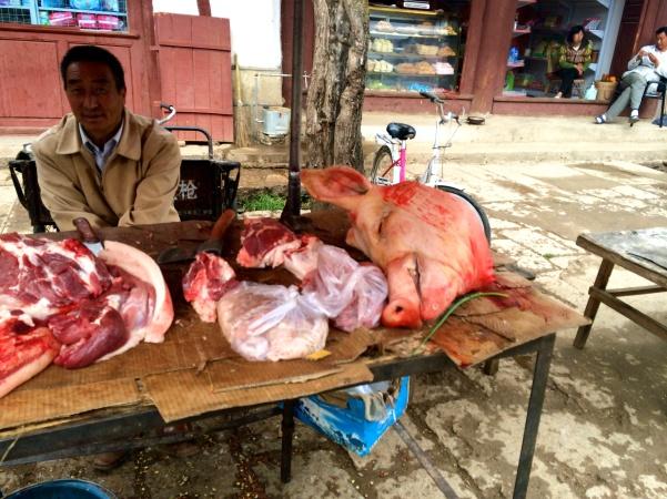 Village square, at the butcher's