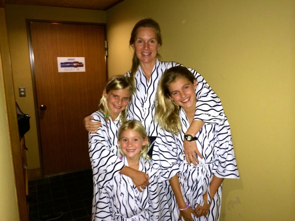 These are the robes we wore around the inn, and to the hot baths