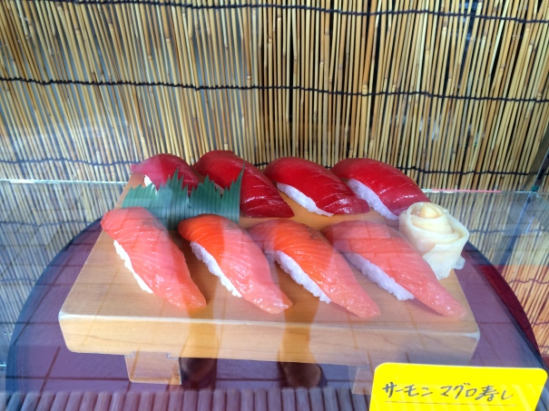 Sushi in the window - more plastic food displays
